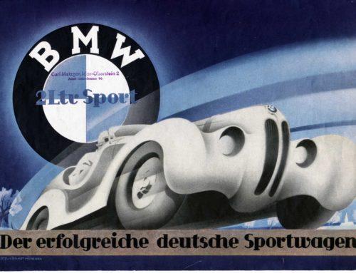 Die alten Werbeprospekte – der BMW Sportwagen