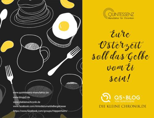 Frohe Ostern wünscht dottergelb Blog Q5