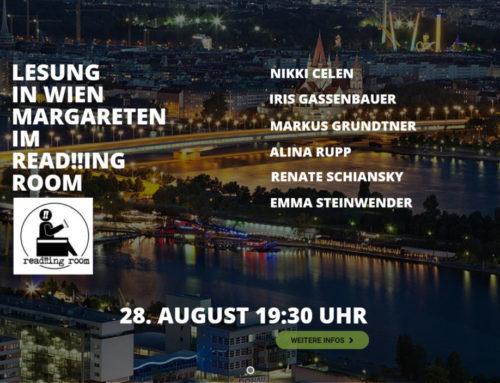 In Wien Magareten findet die erste Lesung Über Mut – Über Leben statt
