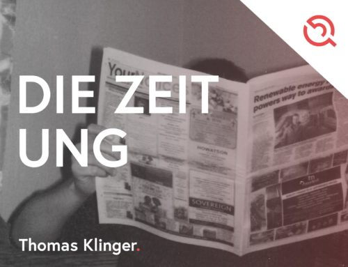 Ein drängendes Problem – im Zweifel einfach eine Zeitung abonnieren